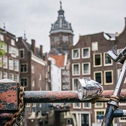 Amsterdam church bike