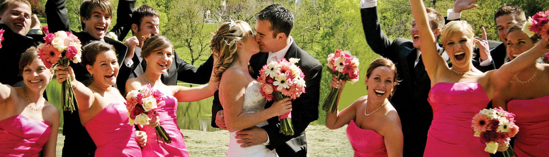 Een onvergetelijke bruiloft met vrienden en familie