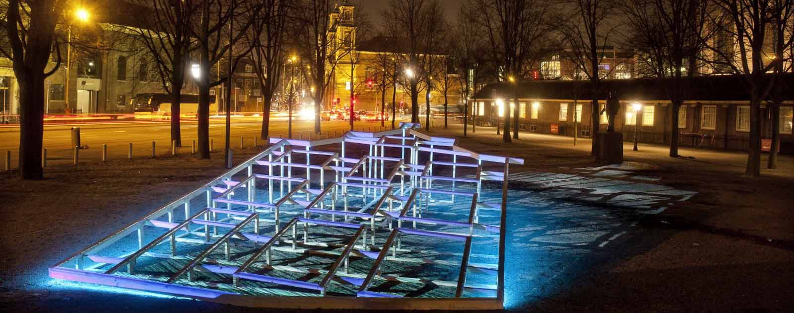 Bekijk kunstwerken Amsterdam light festival