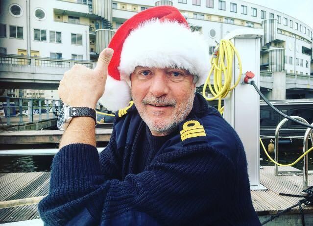 Vier kerst op een boot in amsterdam