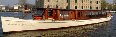 Canal boat Monne de Miranda Amsterdam