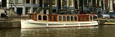 Canal boat Swaen Amsterdam