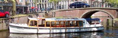 Canal boat Mona Lisa Amsterdam