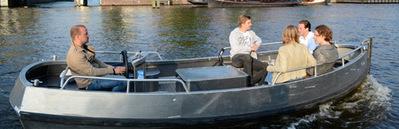 Zelfstandig te varen sloep MokumBoot Amsterdam