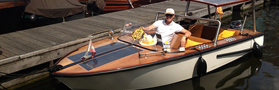 Open boat Ambolux Amsterdam
