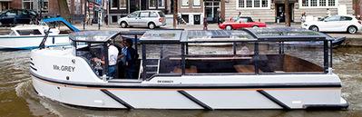 Canal boat Mr Grey Amsterdam