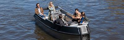 Zelfstandig te varen sloep Adam's Boat Amsterdam